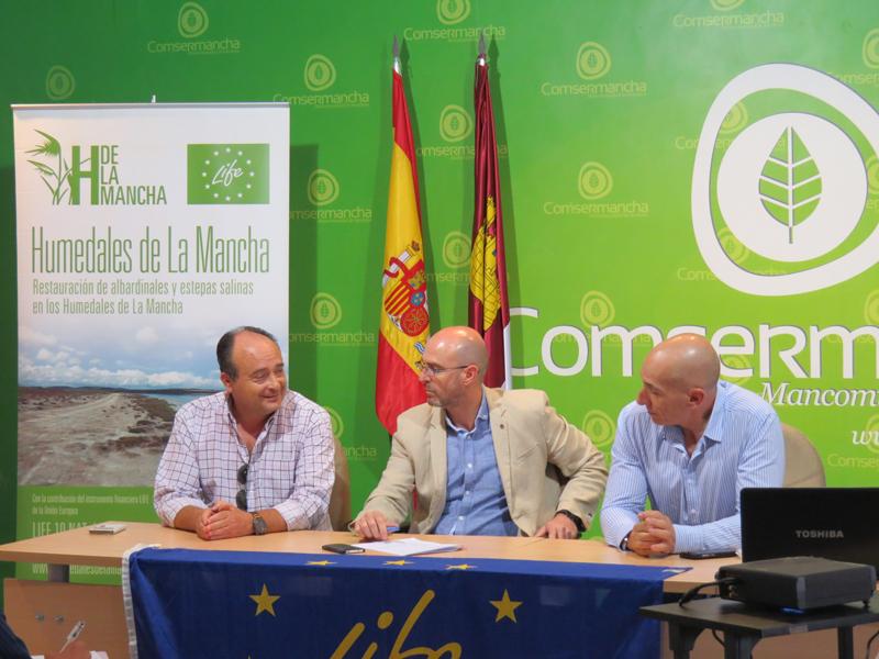 La sede de Comsermancha acoge el Comité de Seguimiento del proyecto LIFE Humedales de La Mancha