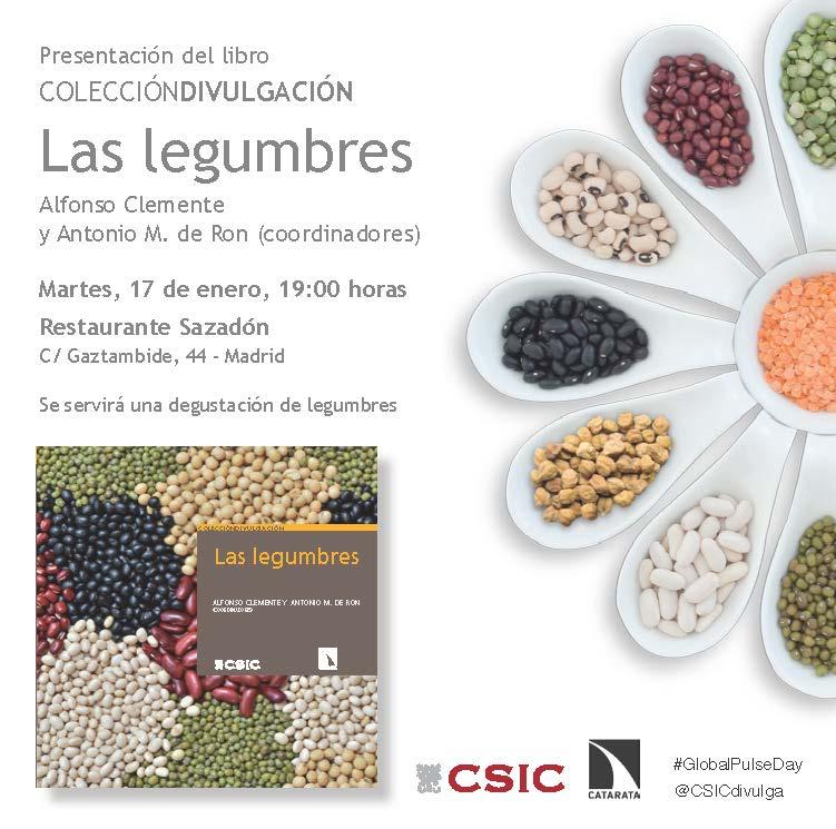 """El próximo día 17 de enero se presenta en Madrid el libro """"Las legumbres"""""""