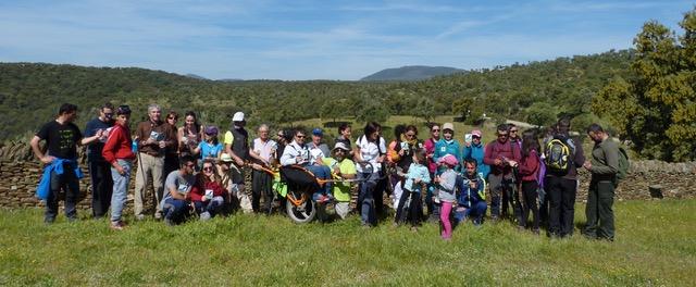 Las joëlette, presentes en el X Aniversario del Parque Nacional de Monfragüe.
