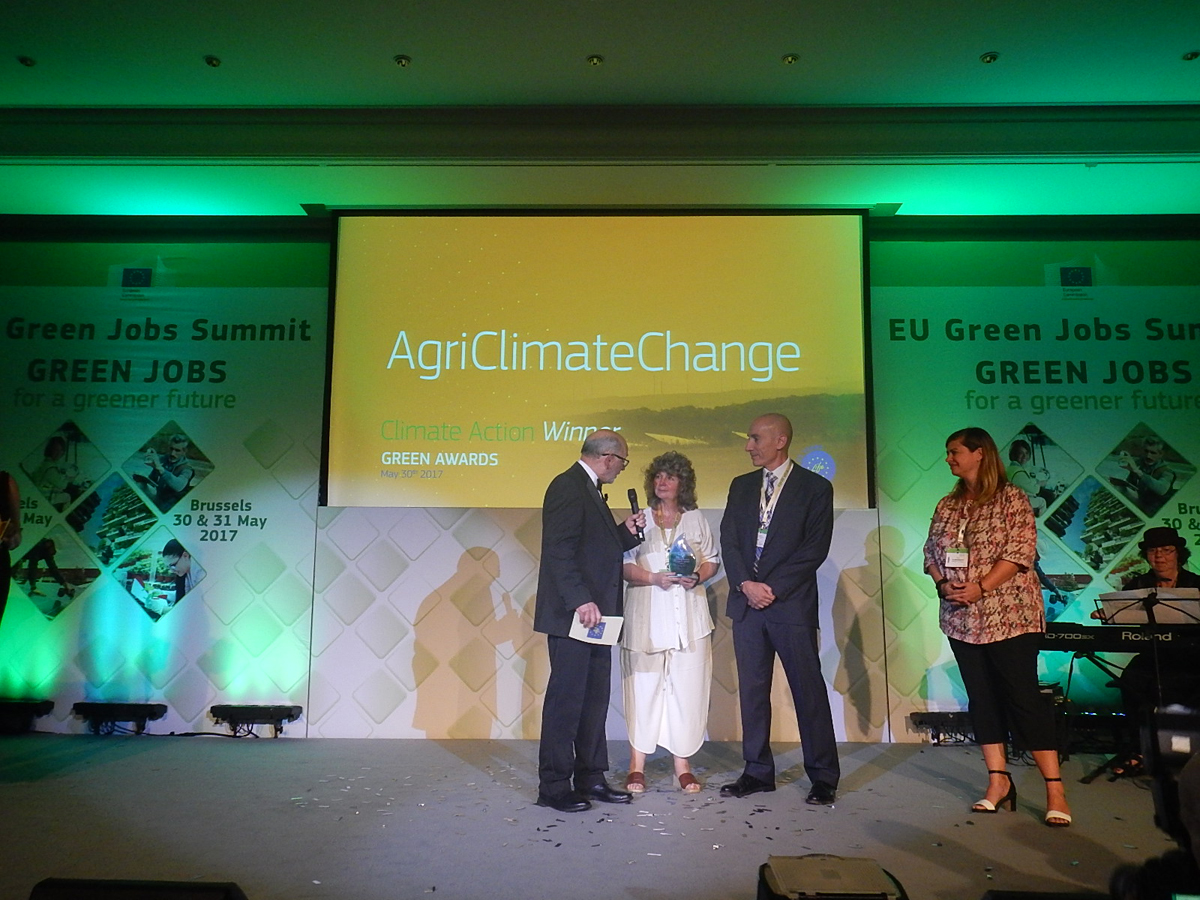 Un proyecto español sobre sector agrario y lucha contra el cambio climático entre los ganadores en Bruselas de los Premios Verdes en la categoría de clima