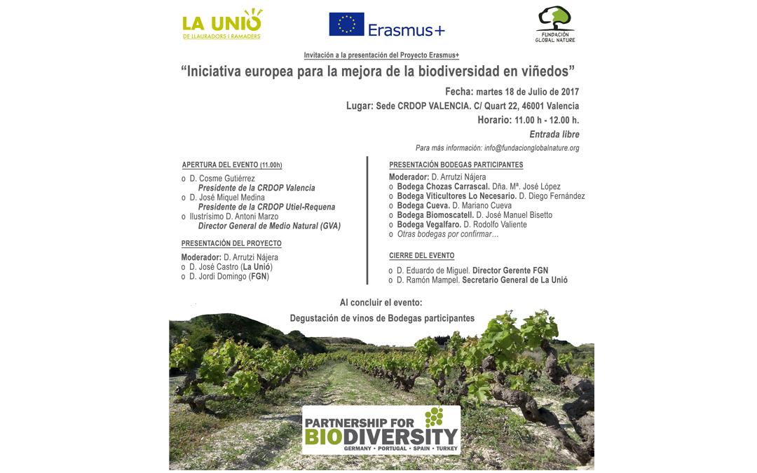 """Avances en la Comunidad Valenciana de la """"Iniciativa europea para la mejora de la biodiversidad en viñedos"""""""