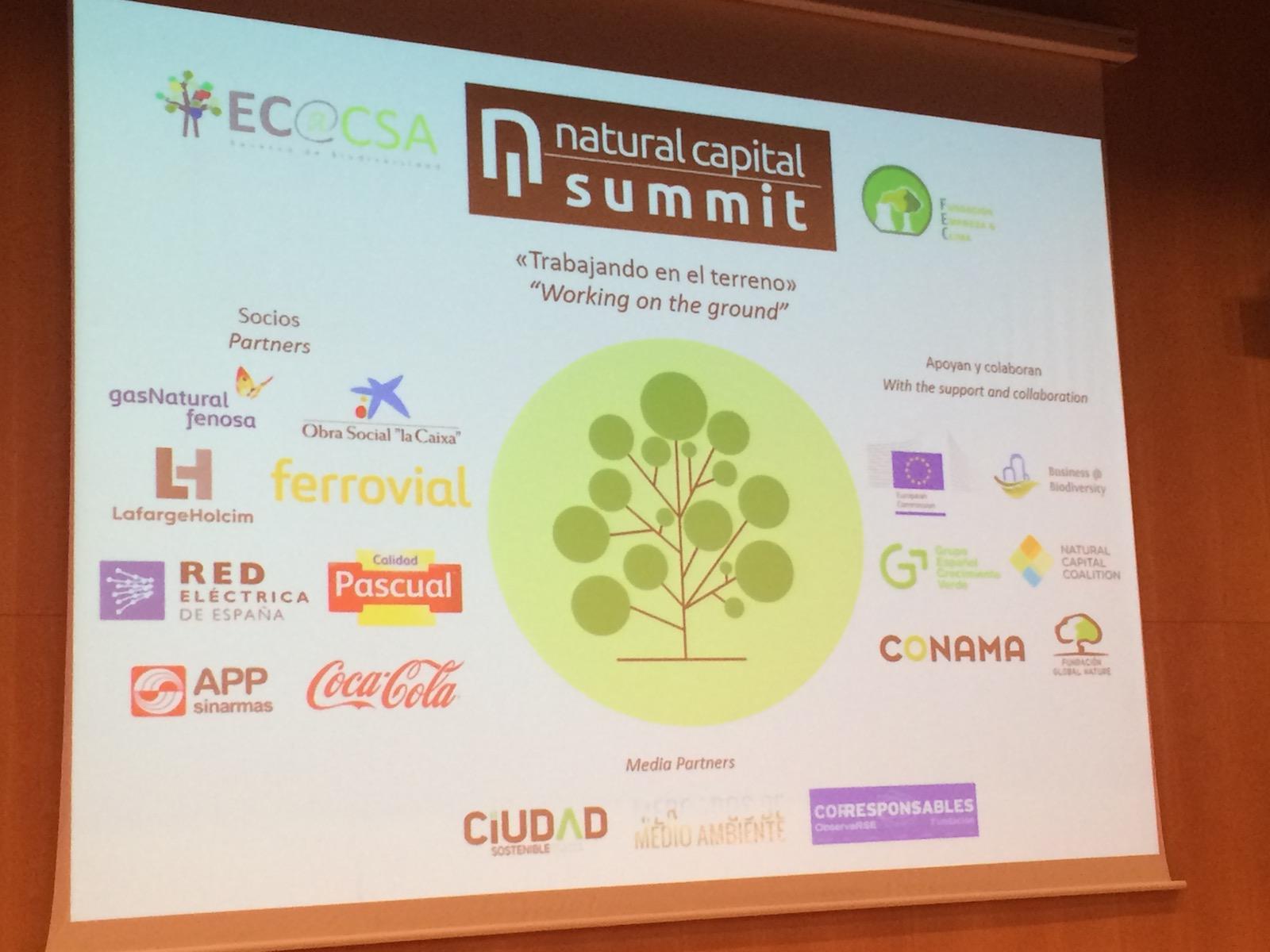 El II Natural Capital Summit concluye con la demanda, a empresas y gobiernos, de que la naturaleza sea considerada como un activo en los balances