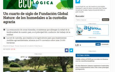 Un cuarto de siglo de Fundación Global Nature: de los humedales a la custodia agraria