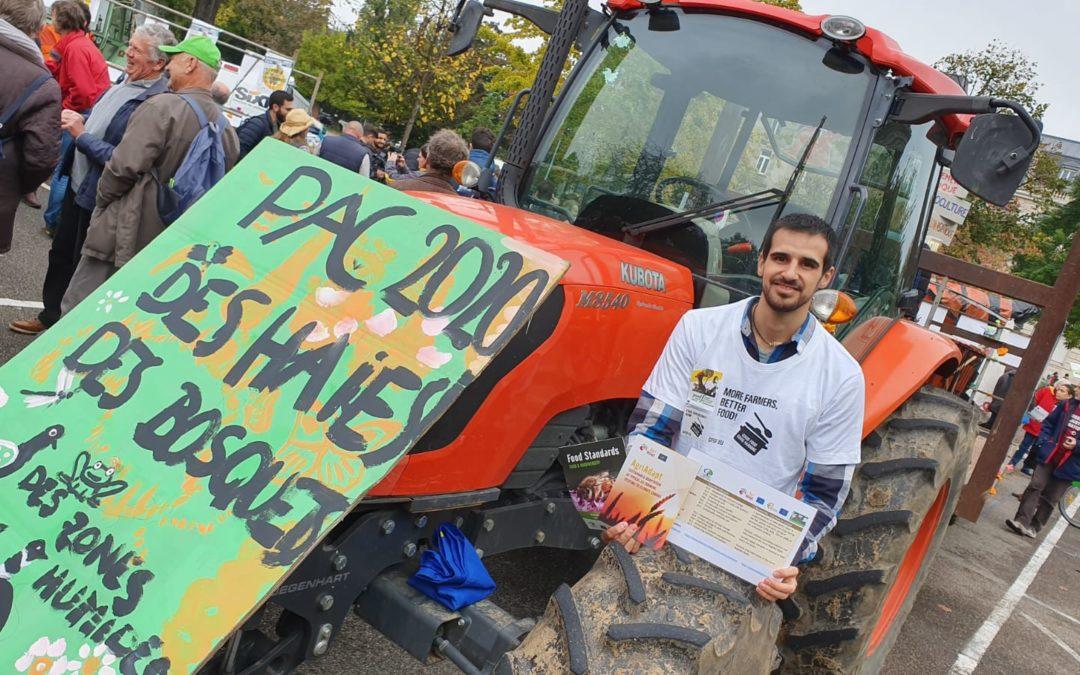 La coalición Por Otra PAC participa en una movilización en Estrasburgo para pedir una nueva política agraria