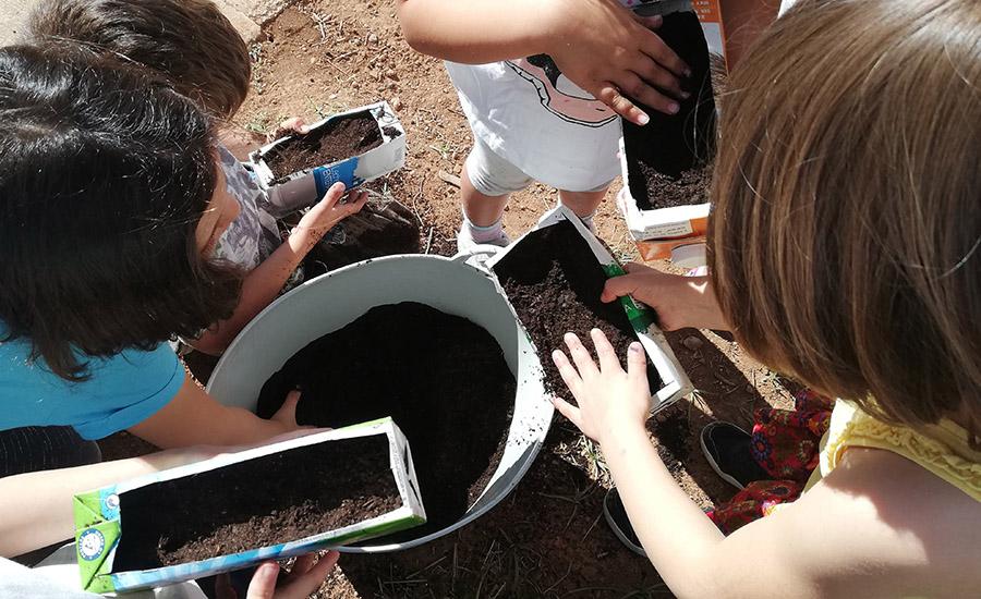 Los huertos de biodiversidad se confirman como exitosas herramientas educativas