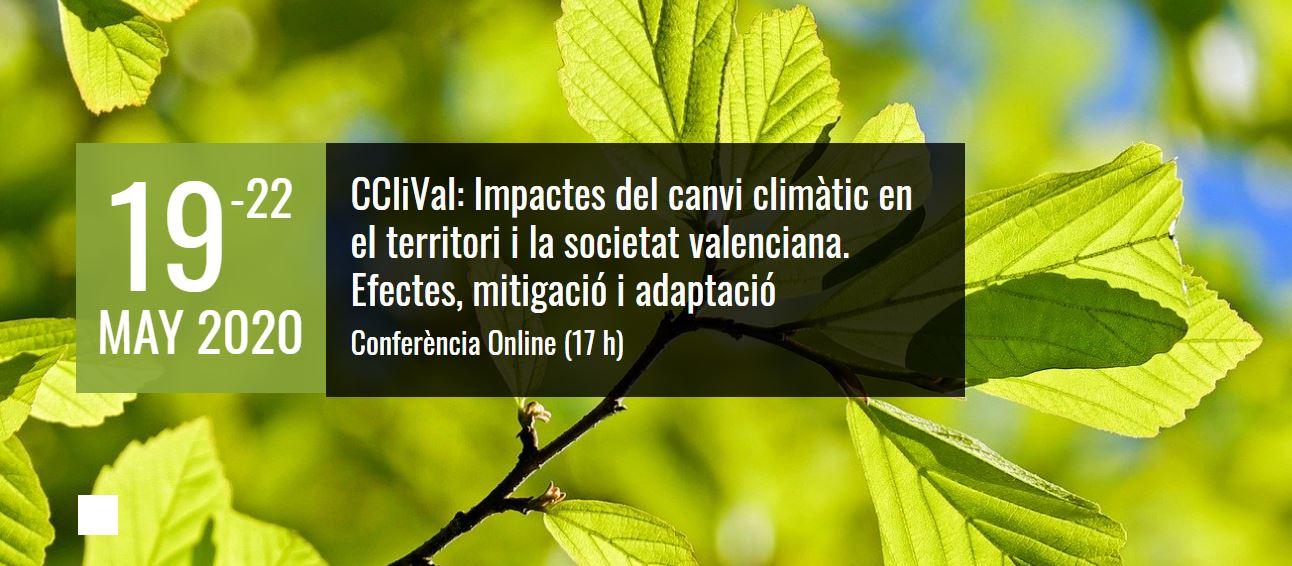 CCliVal: Encuentro virtual sobre los Impactos del cambio climático en el territorio y la sociedad valenciana