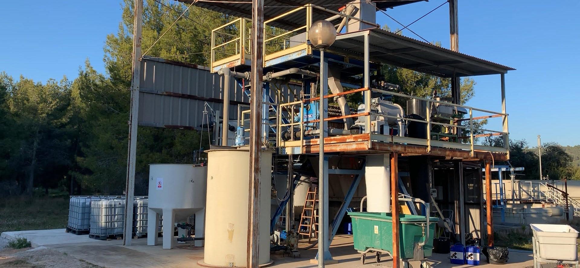 Planta de piloto de Segorbe para la trasformación de purines en fertilizantes con valor comercial