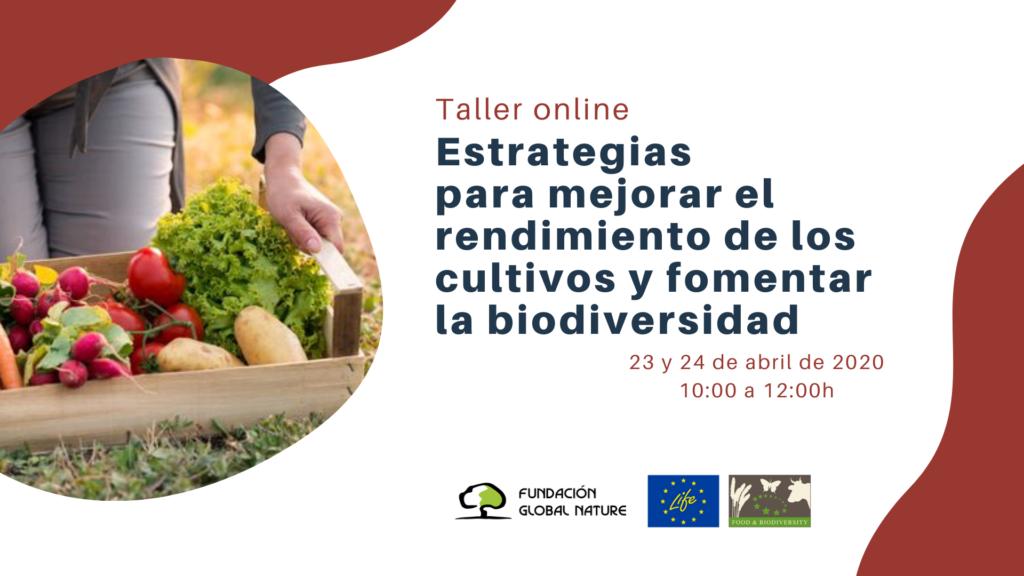 Taller Online. Estrategias para mejorar el rendimiento de los cultivos y fomentar la biodiversidad